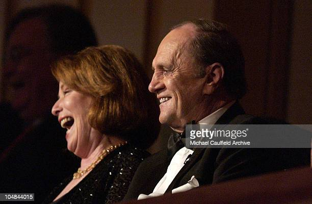 Bob Newhart and wife Virginia during The 5th Annual Kennedy Center Mark Twain Prize Celebrating Bob Newhart Show On Stage at the Kennedy Center The...