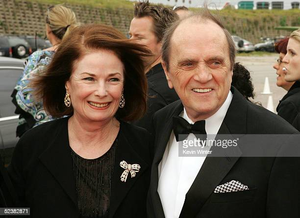 Bob Newhart and wife Virginia Quinn arrive at the 2005 TV Land Awards at Barker Hangar on March 13 2005 in Santa Monica California