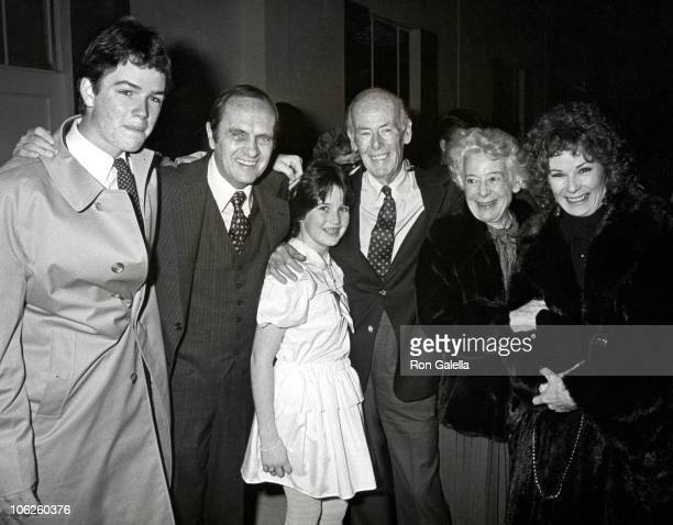 Bob Newhart Ginny Newhart and family during Private Party Hosted by Quincy Jones March 6 1983 at Chasen's Restaurant in Beverly Hills California...