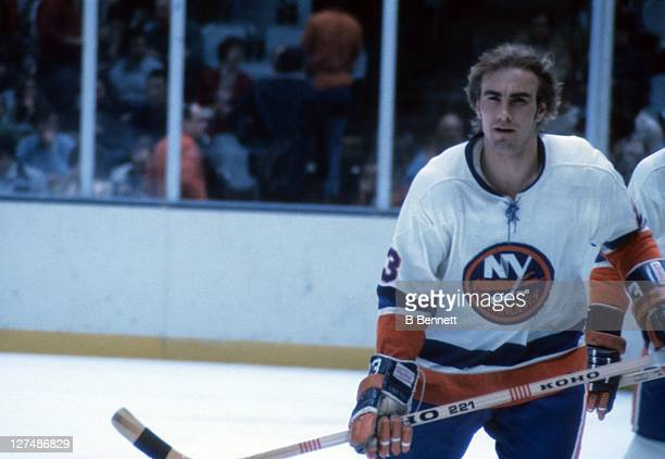 Bob Nystrom of the New York Islanders skates on the ice before an NHL game circa 1973 at the Nassau Coliseum in Uniondale New York