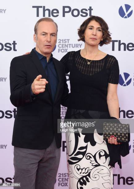 Bob Odenkirk and Naomi Odenkirk arrive at 'The Post' Washington DC Premiere at The Newseum on December 14 2017 in Washington DC