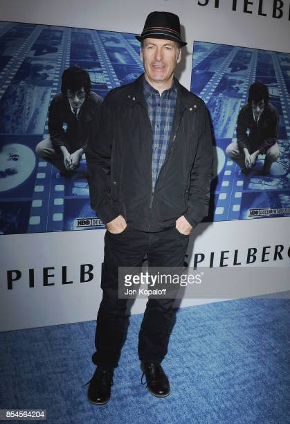 Bob Odenkirk arrives at the HBO Premiere 'Spielberg' at Paramount Studios on September 26 2017 in Hollywood California