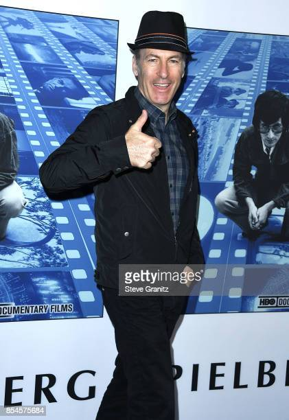 Bob Odenkirk arrives at the Premiere Of HBO's 'Spielberg' at Paramount Studios on September 26 2017 in Hollywood California