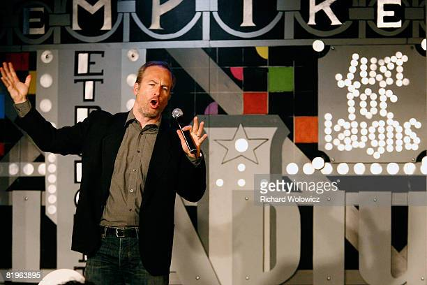 Bob Odenkirk entertains the audience during the Sketch Show at the 2008 'Just For Laughs' Comedy Festival on July 16 2008 in Montreal Canada