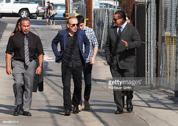 Bob Odenkirk is seen arriving at the Jimmy Kimmel show on August 24 2016 in Los Angeles California