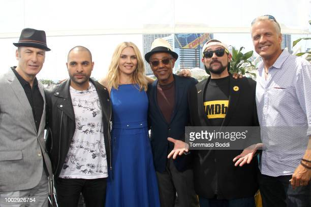 Bob Odenkirk Michael Mando Rhea Seehorn Giancarlo Esposito Kevin Smith and Patrick Fabian attend the #IMDboat At San Diego ComicCon 2018 Day Two at...