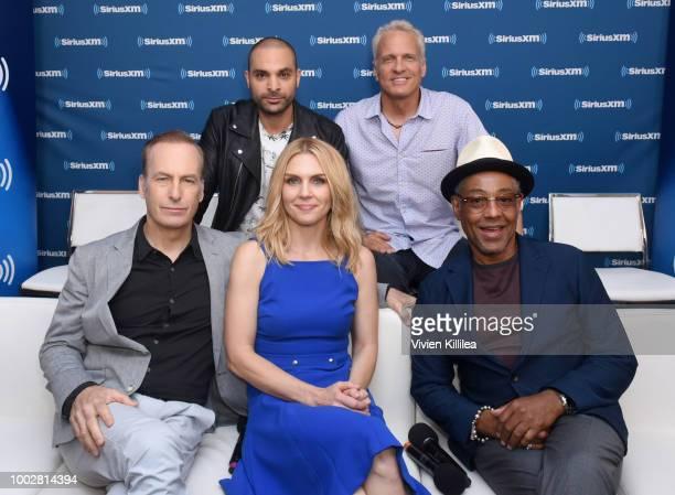 Bob Odenkirk Michael Mando Rhea Seehorn Patrick Fabian and Giancarlo Esposito attend SiriusXM's Entertainment Weekly Radio Broadcasts Live From Comic...