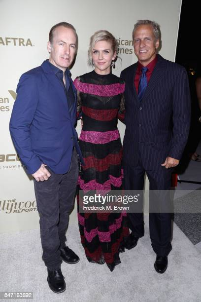 Bob Odenkirk Rhea Seehorn and Patrick Fabian attend The Hollywood Reporter and SAGAFTRA Inaugural Emmy Nominees Night presented by American Airlines...