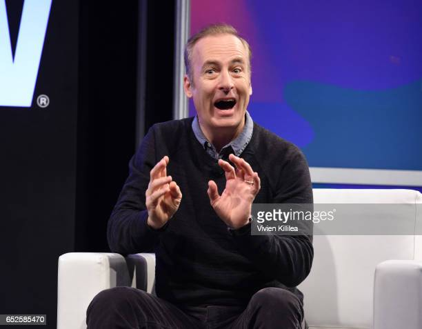 Bob Odenkirk speaks at AMC's Better Call Saul A conversation with Bob Odenkirk at the Austin Convention Center on March 12 2017 in Austin Texas