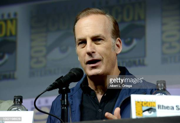 Bob Odenkirk speaks onstage during AMC's 'Better Call Saul' during ComicCon International 2018 at San Diego Convention Center on July 19 2018 in San...