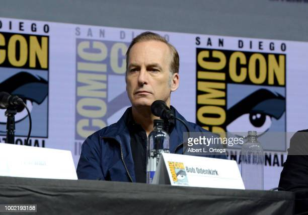 Bob Odenkirk speaks onstage during the 'Breaking Bad' 10th Anniversary Celebration during ComicCon International 2018 at San Diego Convention Center...