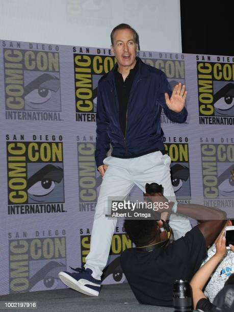 Bob Odenkirk walks onstage during AMC's 'Better Call Saul' during ComicCon International 2018 at San Diego Convention Center on July 19 2018 in San...