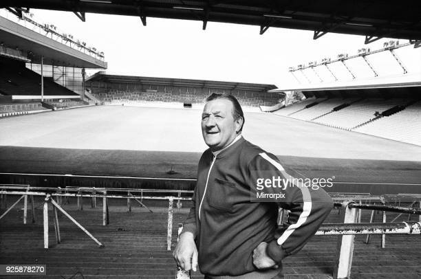 Bob Paisley at Anfield after taking over as Liverpool manager following the resignation of Bill Shankly, 26th July 1974.