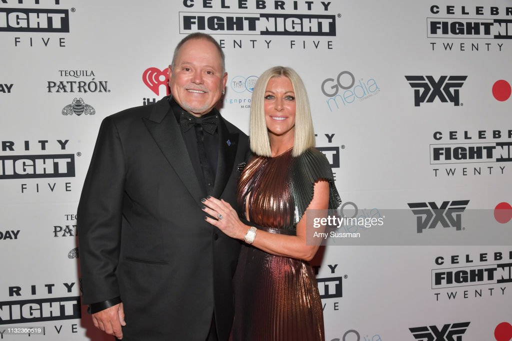 Bob Parsons and Renee Parsons attend Celebrity Fight Night XXV on