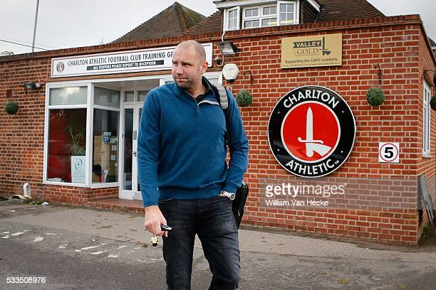 Bob Peeters head coach of Charlton Athletic FC pictured during a training day in Londen United Kingdom
