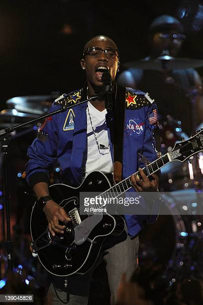 BoB performs at the 2012 VH1 Pepsi Super Bowl Fan Jam at the Pepsi Coliseum on February 2 2012 in Indianapolis Indiana