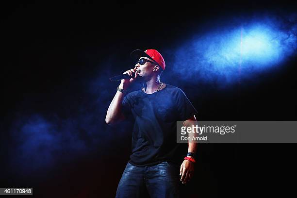 BoB performs live for fans at Qantas Credit Union Arena on January 8 2015 in Sydney Australia