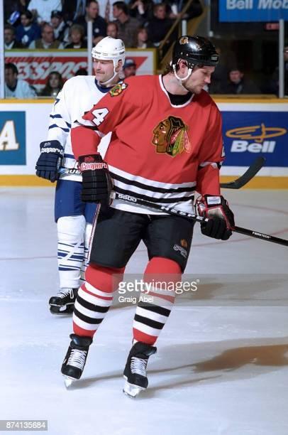 Bob Probert of the Chicago Black Hawks skates against the Toronto Maple  Leafs on April 3 9f08cd41e