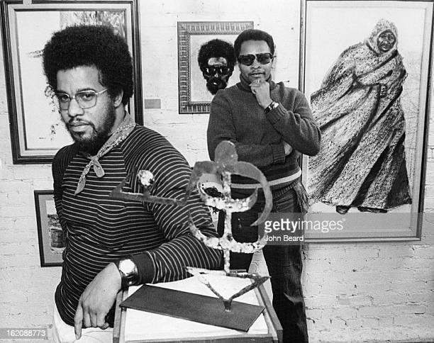 OCT 9 1970 OCT 14 1970 OCT 18 1970 Bob Ragland stands by one of his major works mystery figure a charcoal drawing at Square Frames Gallery