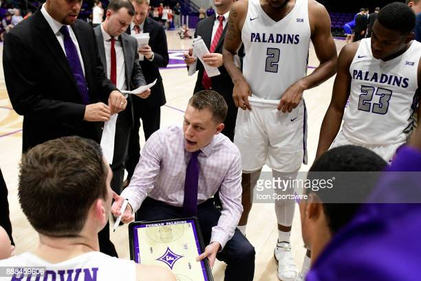 Bob Richey first year head coach leads his team to a 7283 win over UNC Asheville Bulldogs Tuesday December 5 at Timmons Arena in Greenville South...