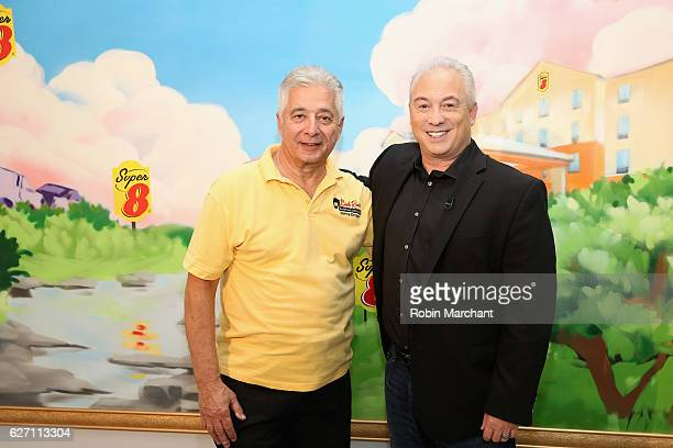 Bob Ross Instructor Bernie Oropollo and SVP Super 8 Michael Mueller attends When The Art Comes Down Miami Beach hosted by Super 8 on December 1 2016...