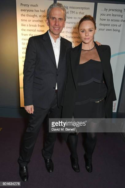 Bob Roth and Stella McCartney attend the launch of Bob Roth's 'Strength in Stillness' hosted by Stella McCartney and Liv Tyler at Wellington Arch on...