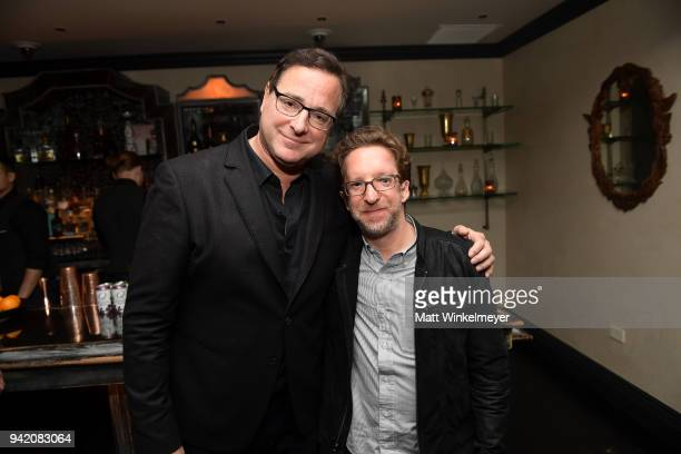Bob Saget and Adam Saget attend the 18th Annual International Beverly Hills Film Festival Benjamin Premiere After Party at Beauty Essex on April 4...
