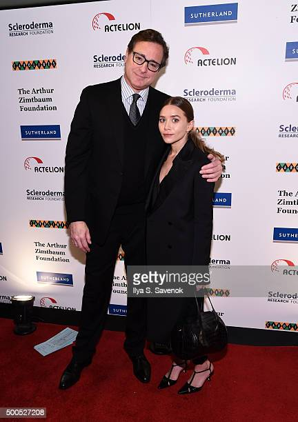 Bob Saget and Ashley Olsen attend Cool Comedy Hot Cuisine A Benefit For The Scleroderma Research Foundation at Carolines On Broadway on December 8...