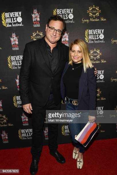 Bob Saget and Candace CameronBure attend the 18th Annual International Beverly Hills Film Festival Opening Night Gala Premiere of Benjamin at TCL...