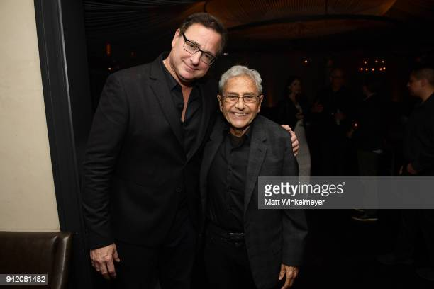 Bob Saget and George Shapiro attend the 18th Annual International Beverly Hills Film Festival Benjamin Premiere After Party at Beauty Essex on April...