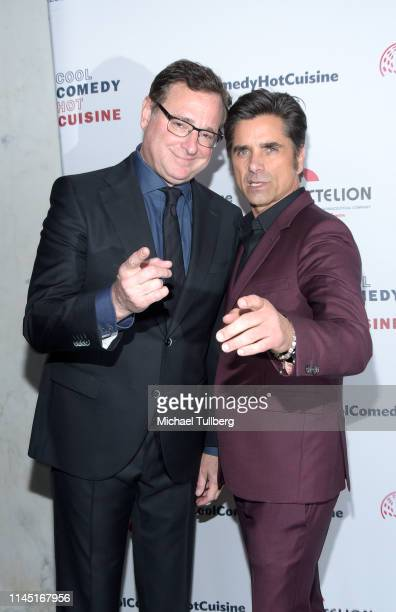 Bob Saget and John Stamos attend Bob Saget's Cool Comedy Hot Cuisine presented by the Scleroderma Research Foundation at the Beverly Wilshire Four...