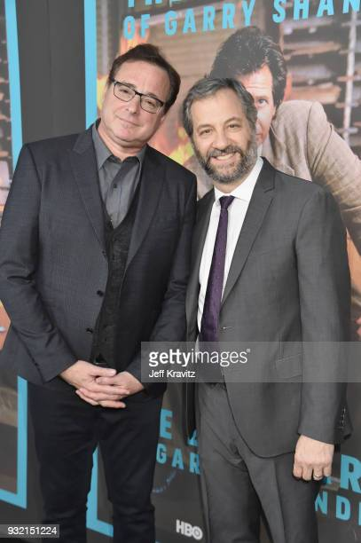 Bob Saget and Judd Apatow attend the screening of HBO's The Zen Dairies of Garry Shandling at Avalon on March 14 2018 in Hollywood California'
