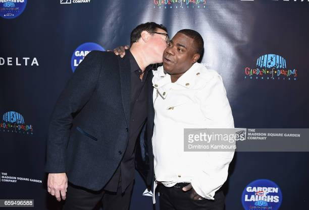 Bob Saget and Tracy Morgan attend the 2017 Garden Of Laughs Comedy Benefit at The Theater at Madison Square Garden on March 28 2017 in New York City