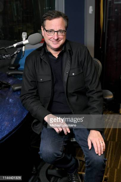 Bob Saget appears on In Depth With Larry Flick at SiriusXM Studios on April 22 2019 in New York City