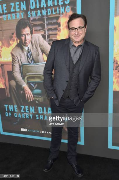 Bob Saget attends the screening of HBO's The Zen Dairies of Garry Shandling at Avalon on March 14 2018 in Hollywood California