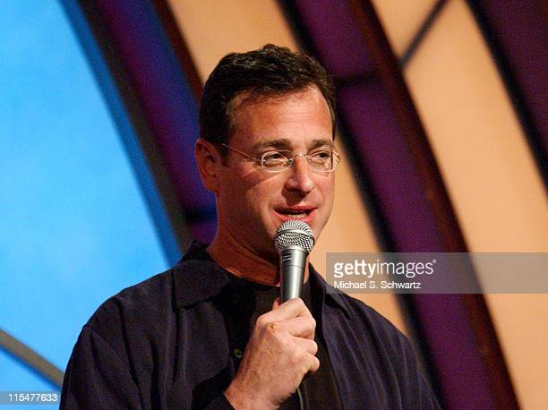 Bob Saget during Toys For Tots Benefit at The Laugh Factory Show at The Laugh Factory in Hollywood California United States