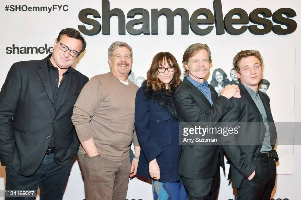 Bob Saget John Wells Katey Sagal William H Macy and Jeremy Allen White attend For Your Consideration Event For Showtime's Shameless at Linwood Dunn...