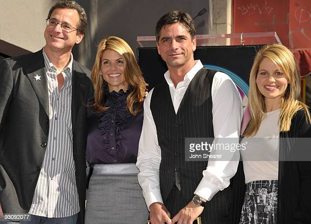 Bob Saget Lori Laughlin John Stamos and Candace Bure attend the John Stamos Hollywood Walk of Fame Ceremony on November 16 2009 in Hollywood...