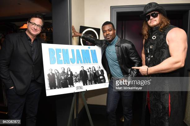 Bob Saget Lyriq Bent and James Preston Rogers attend the 18th Annual International Beverly Hills Film Festival Benjamin Premiere After Party at...