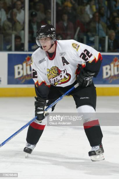 Bob Sanguinetti of the Owen Sound Attack skates against the London Knights at the John Labatt Centre on September 29, 2006 in London, Ontario, Canada.