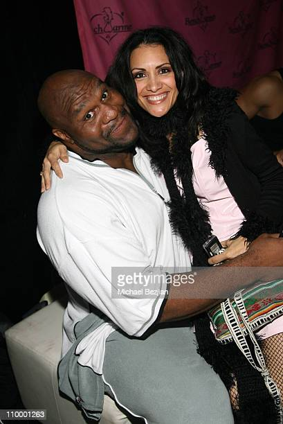 Bob Sapp and Lourdes Colon during Model's Monster Mash Benchwarmer Halloween Party at Memphis Restaurant in Hollywood California United States