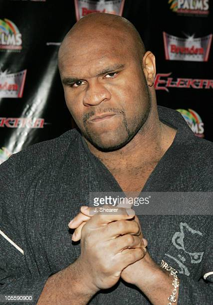 Bob Sapp during Elektra Las Vegas Premiere Arrivals at The Palms Hotel and Casino in Las Vegas Nevada United States