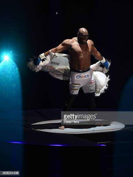 Bob Sapp of the United States enters the ring prior to the bout Rizin Fighting World Grand Prix against Taro Akebono of Japan during the Rizin Iza...
