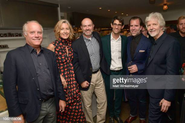 Bob Sauerberg Jane Metcalfe Chris Anderson Nicholas Thompson Scott Dadich and Louis Rossetto attend VIP Dinner For WIRED's 25th Anniversary Hosted By...
