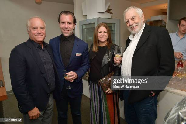 Bob Sauerberg Scott Dadich Kim Kelleher and Nolan Bushnell attend VIP Dinner For WIRED's 25th Anniversary Hosted By Nicholas Thompson And Anna...