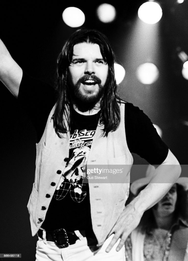 Bob Seger performs on stage at Hammersmith Odeon, London, on 22nd October 1977.