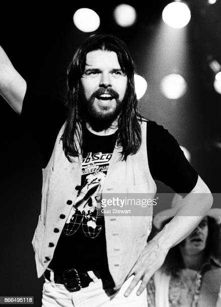 Bob Seger performs on stage at Hammersmith Odeon London on 22nd October 1977