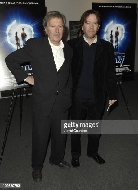 """Bob Shaye, director with Timothy Hutton during """"The Last Mimzy"""" - New York Premiere - Arrivals at American Museum of Natural History in New York..."""