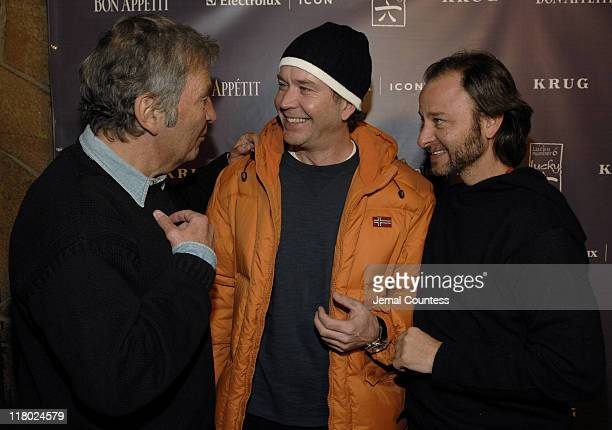 Bob Shaye Timothy Hutton and Fisher Stevens during 2007 Sundance Film Festival The Last Mimzy Afterparty and New Line Cinema 40th Anniversary Party...