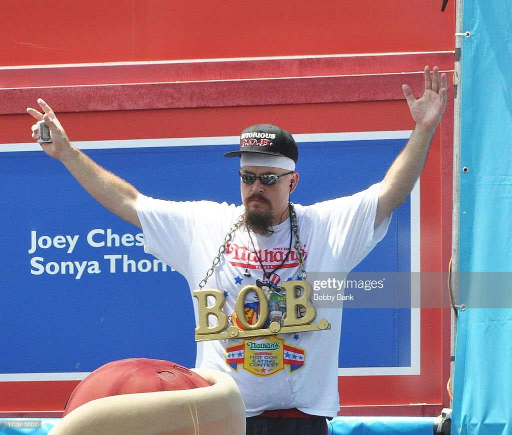 Bob Shoudt attends the 2013 Nathan's Famous Hot Dog Eating Contest at Coney Island on July 4, 2013 in New York City.